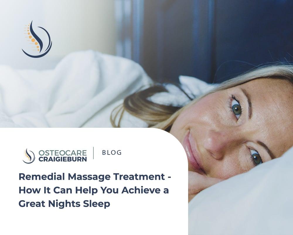 remedial massage treatment